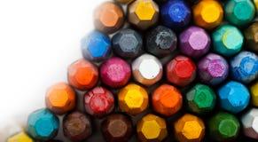 Pila di pastelli dell'olio Immagini Stock Libere da Diritti
