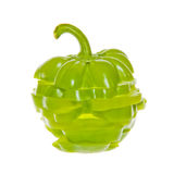 Pila di peperone dolce verde affettato immagini stock libere da diritti