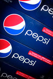 Pila di Pepsi-cola 12 pacchetti Fotografia Stock