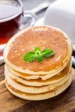 Pila di piccoli pancake Fotografia Stock Libera da Diritti