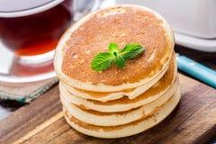 Pila di piccoli pancake Immagini Stock