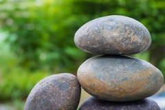 Pila di pietra del ciottolo Fotografie Stock