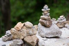 Pila di pietre Fotografia Stock