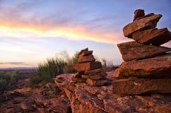 Pila di pietre Immagine Stock