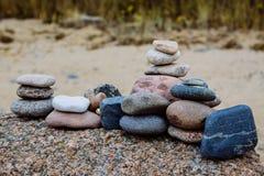 Pila di pietre Immagini Stock