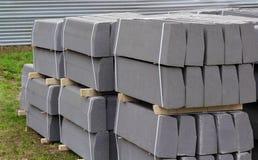Pila di pietre di confine imballate Fotografia Stock