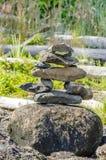 Pila di pietre equilibrate Fotografie Stock Libere da Diritti