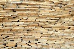 Pila di plance di legno Fotografie Stock Libere da Diritti