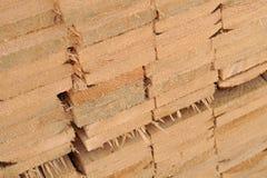 Pila di plance di legno Immagine Stock