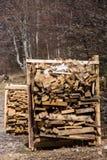 Pila di plance di legno immagini stock libere da diritti