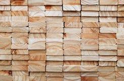 Pila di plance di legno quadrate Fotografia Stock Libera da Diritti