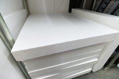 pila di plastica della schiuma per isolamento fotografia stock
