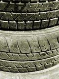 Pila di pneumatici Immagine Stock