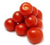 Pila di pomodori Fotografia Stock