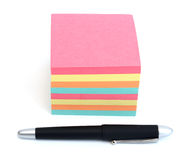 Pila di post-it Fotografie Stock
