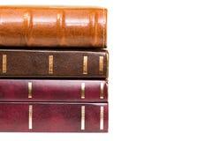 Pila di primo piano dei libri Fotografia Stock