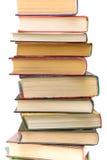Pila di primo piano differente dei libri Fotografia Stock
