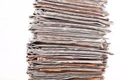 Pila di quotidiani Immagini Stock
