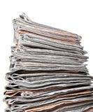 Pila di quotidiani Immagini Stock Libere da Diritti