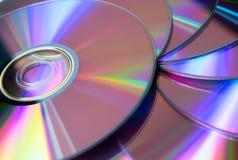 Pila di raccolta rewritable porpora del dvd fotografie stock libere da diritti