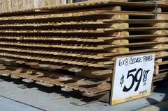 Pila di recinto della palizzata Fotografia Stock