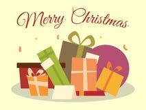 Pila di regali di Natale Immagini Stock Libere da Diritti