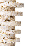 Pila di riso della cialda. Fotografia Stock