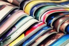 Pila di riviste Immagine Stock