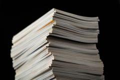 Pila di riviste Immagini Stock Libere da Diritti