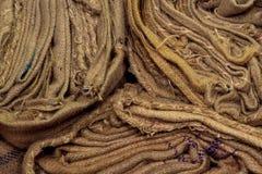 Pila di sacchi Fotografia Stock