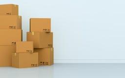 Pila di scatole Fotografia Stock