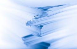 Pila di schede di carta Fotografia Stock