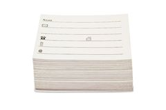 Pila di schede di indirizzo in bianco Fotografie Stock