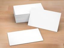 Pila di schede di nome in bianco illustrazione di stock