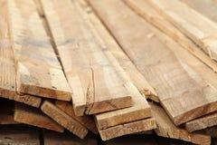 Pila di schede di legno Fotografie Stock