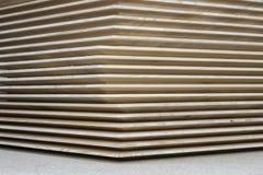 Pila di schermi di legno fotografia stock