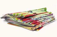 Pila di scomparti Immagine Stock