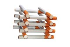 Pila di sigarette fotografia stock