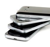 Pila di smartphones Immagini Stock Libere da Diritti