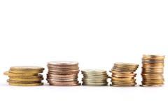 Pila di soldi di metallo Immagine Stock