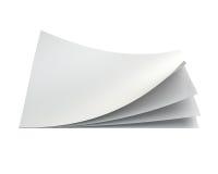 Pila di strati della carta in bianco rappresentazione 3d Immagine Stock