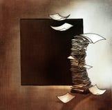 Pila di strati di carta, stilizzata Fotografia Stock Libera da Diritti