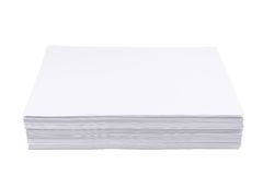 Pila di strato del Libro Bianco di dimensione a4 Immagine Stock
