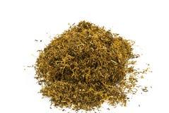 Pila di tabacco-isolato di su bianco Immagini Stock