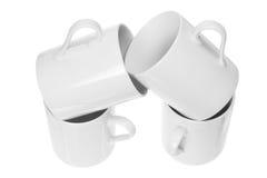 Pila di tazze di caffè Immagine Stock