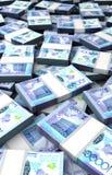 Pila di tenge kazako Immagini Stock Libere da Diritti
