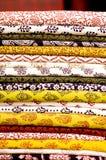 Pila di tessuti Immagine Stock