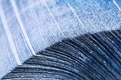 Pila di tovaglioli blu Fotografie Stock