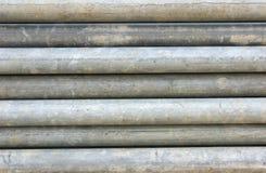 Pila di tubi d'acciaio Fotografie Stock