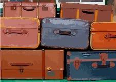 Pila di valigie Fotografie Stock